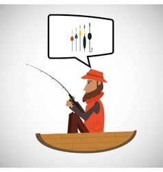 fishing design sport icon Isolated image vector image