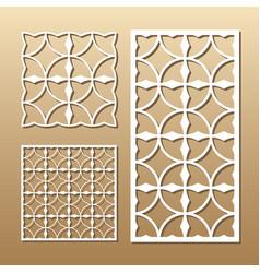 geometric laser cut vector image vector image