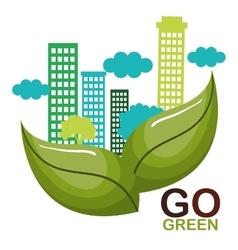 Go green ecology poster vector