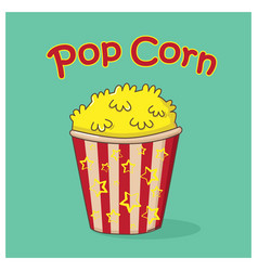 Pop corn icon vector