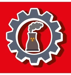 Signal of reactor isolated icon design vector