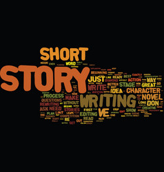 The long and the short of the short story text vector
