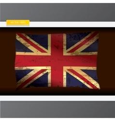 The United Kingdom or Union Jack grunge flag vector image