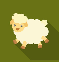 toy sheep icon in flate style isolated on white vector image vector image