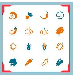 vegetables icons - in a frame series vector image vector image