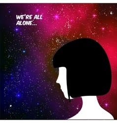 We are all alone concept vector image