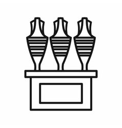 Egyptian vases icon outline style vector