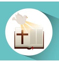 Holy spirit bible icon design vector