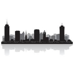 Hamilton Canada city skyline silhouette vector image