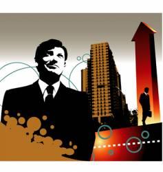 business landscape vector image