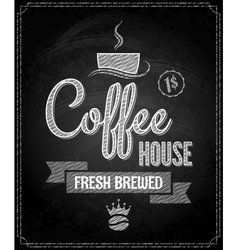 coffee menu design chalkboard background vector image