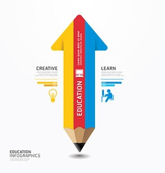 Arrow Pencil Infographic Design Minimal style vector image