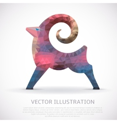 Colorful geometric shape of the goat vector