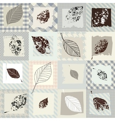 Leaves retro pattern vector