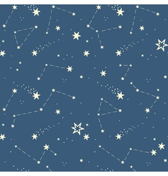 Seamless pattern with the stars constellations vector