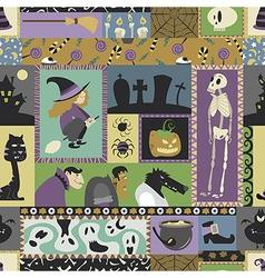 Halloween pattern 06 vector image