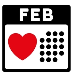 Valentine february day icon vector