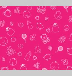 Baby background vector