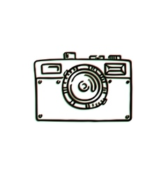 Doodle photo camera hand draw vector