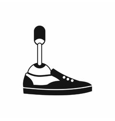 Prosthetic leg icon simple style vector