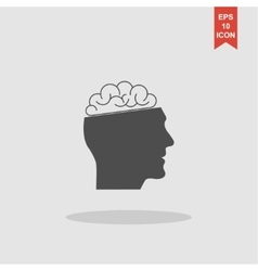 Icon of human head and brain vector