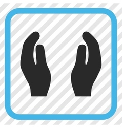 Applause Hands Icon In a Frame vector image vector image