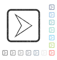 Arrowhead right icon rubber watermark vector
