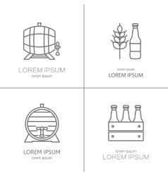 Beer logos design vector
