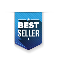 Best Seller blue ribbon vector image vector image