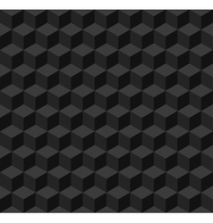 Black geometric seamless background vector image vector image