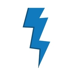 Blue thunder weather climate battery icon vector