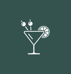 Cocktail modern icon vector