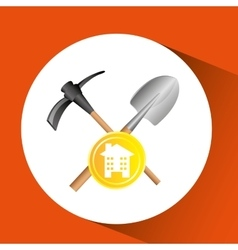 Construction remodel tool shovel icon graphic vector