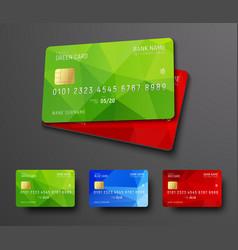 design of a bank credit debit card vector image