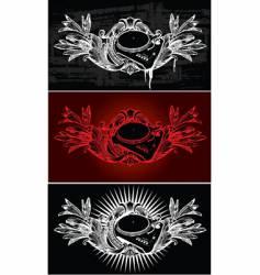 dj ornate banner vector image vector image