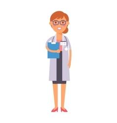 Doctor girl silhouette vector