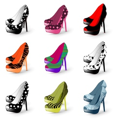 fashion high heels vector image vector image