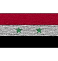Flags syria on denim texture vector