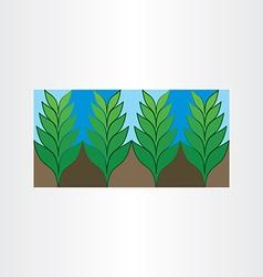 Garden plant icon background vector