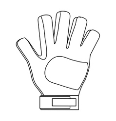 Goalkeeper glove icon vector