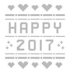 Happy New Year 2017 vector image vector image