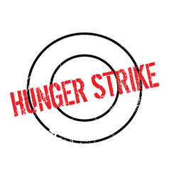 Hunger strike rubber stamp vector