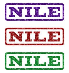 Nile watermark stamp vector