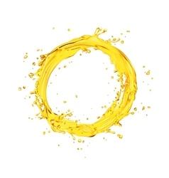 orange juice splash circle vector image
