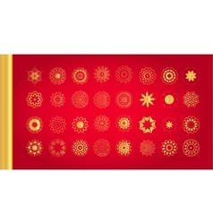 Original Christmas decoration set vector image vector image