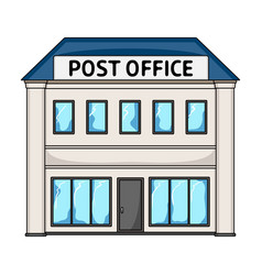 Post officemail and postman single icon in vector