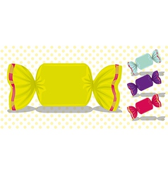 Set of candy colored squares vector