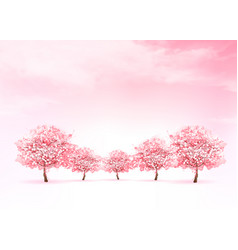 Spring nature background with a pink blooming vector