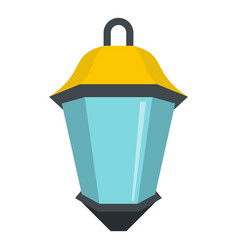 Street light icon isolated vector