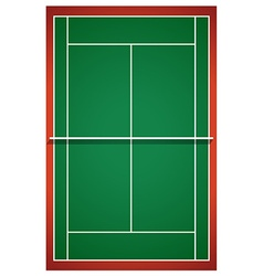Tennis court from top view vector image vector image